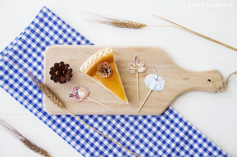 Autumn Food Topper Printables
