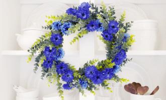 Faux Floral Wreath DIY