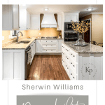 Kitchen Cabinets In Sherwin Williams Dover White Painted