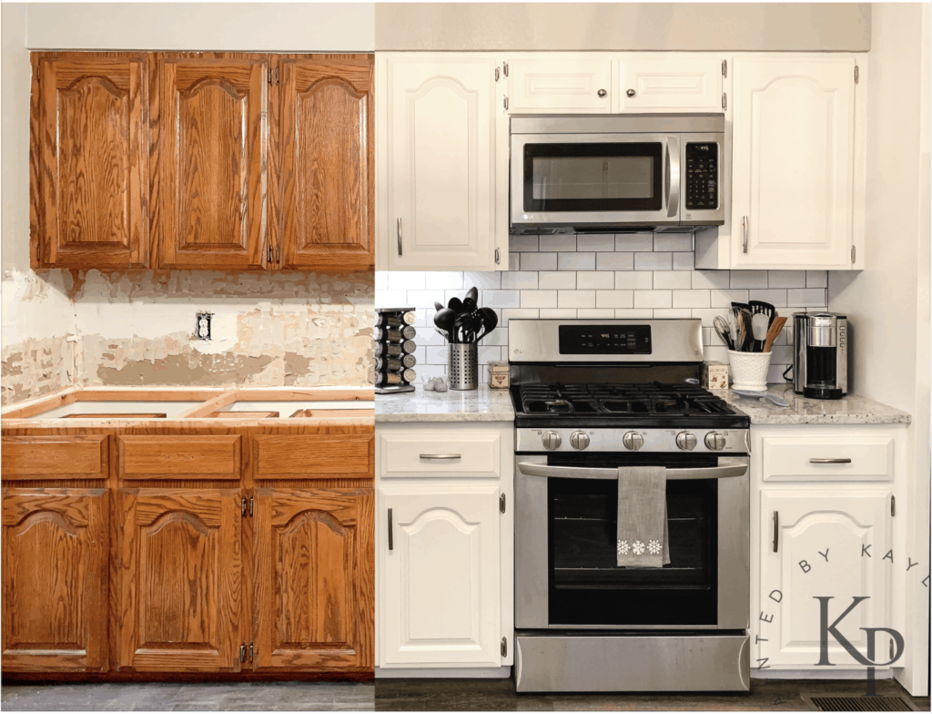 Kitchen Cabinets In Alabaster Painted By Kayla Payne