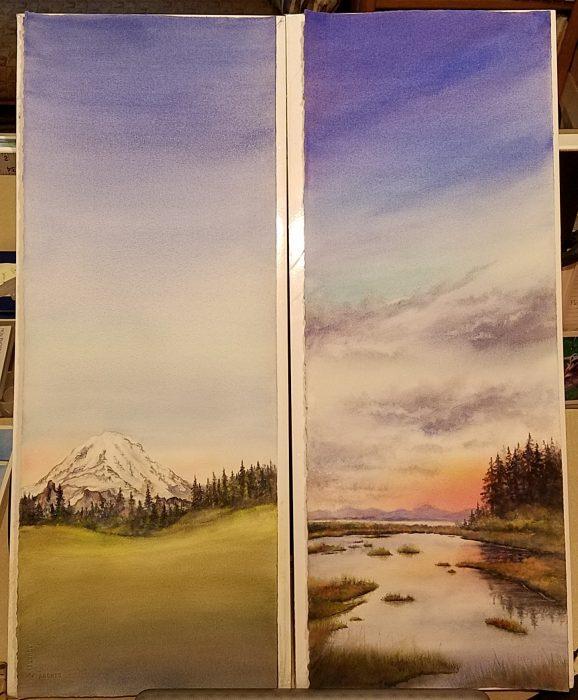 Progress – tall paintings