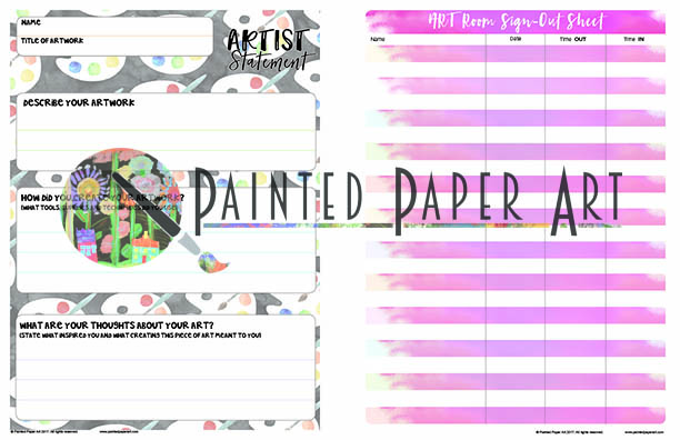 Painted paper arts full color k 12 art teacher planner painted art room layout i get asked every year to create a new layout page for my custodians i am tired of the little pencil scratches on paper so we designed malvernweather Gallery