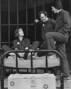 Martin Short, Peter Blais & Miles McNamara in Fortune & Men's Eyes, Theatre Aquarius, Hamilton, Ontario 1974