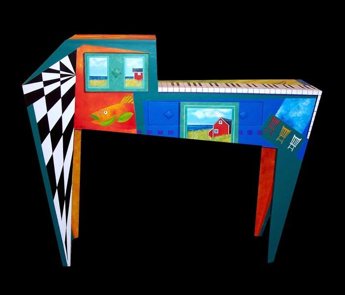 Piano Bar, Artist Peter Blais, Painted Saltbox Gallery