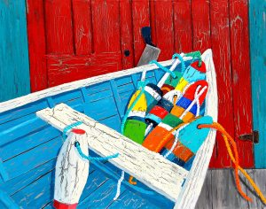 Call to Order at the Buoys' Clubhouse Metal Print 11 x 14  by Tom Alway at the Maritime Painted Saltbox Fine Art Gallery in Petite Riviere Nova Scotia