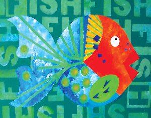 "Go Fish 11""x 14"""