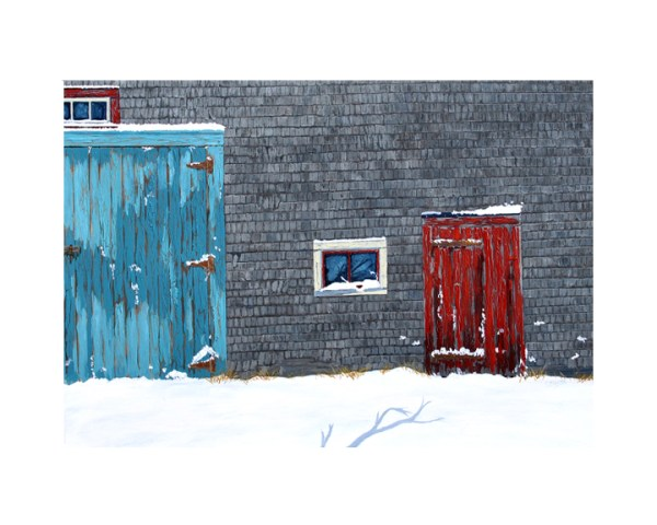 Winter Mood by Tom Alway a limited edition 16x20 matted print available at the Maritime Painted Saltbox Fine Art Gallery