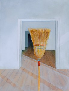 Clean Sweep, painting by Peter Blais for the Maritime Painted Saltbox