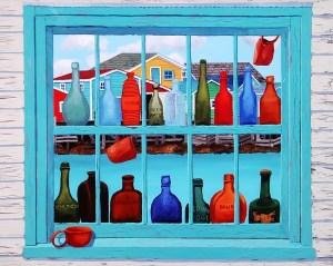 Sailors' Snug 16 x 20 Metal Print by Tom Alway at the Maritime Painted Saltbox Fine Art Gallery in Petite Riviere Nova Scotia