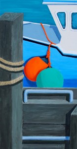 """It's a Cliffhanger by TomAlway, acrylic on gallery canvas 18"""" x 36"""" available at the MaritimePainted Saltbox Fine Art Gallery in Petite Riviere Nova Scotia"""