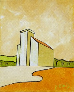 """Middle Cornwall by Peter Blais, acrylic on canvas 10"""" x 12"""" framed, at the Maritime Painted Saltbox Fine Art Gallery."""