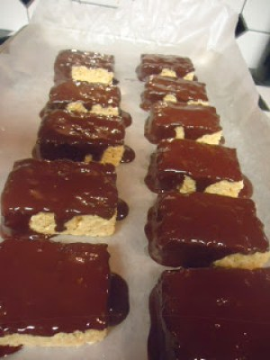 Chocolate Peppermint Krispies with Essential Oils