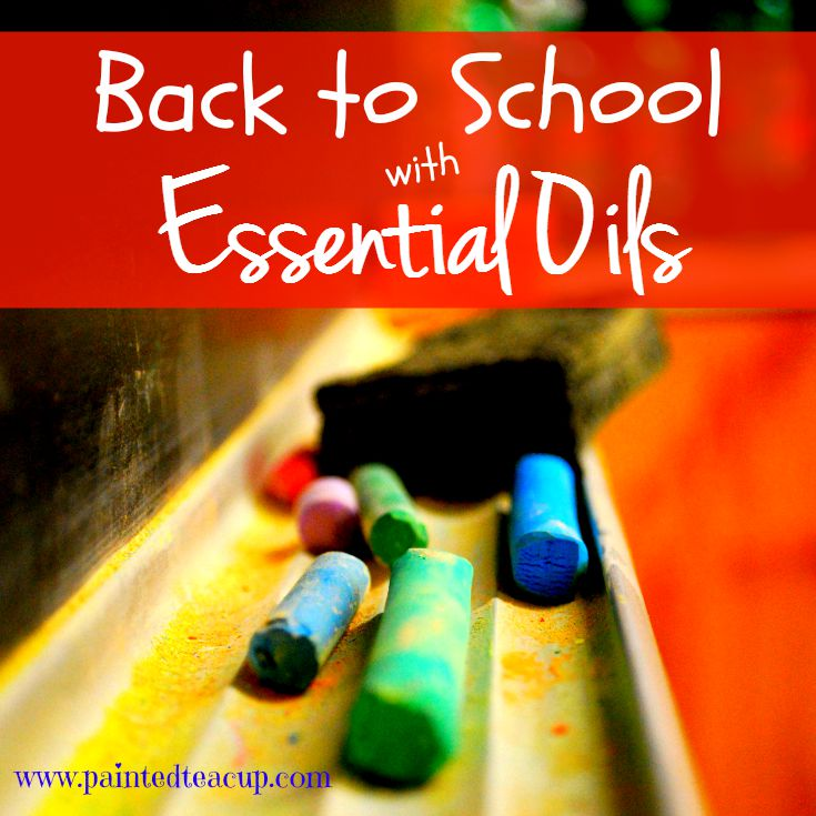 Back to School with Essential Oils. Essential Oils to help with sleep, concentration and energy for all ages. www.paintedteacup.com