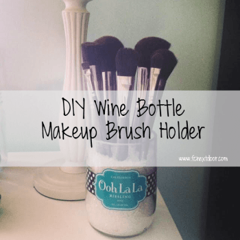 DIY Wine Bottle Makeup Brush Holder