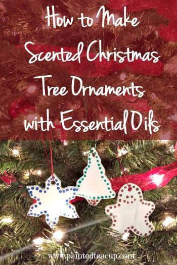 How to Make Scented Christmas Tree Ornaments with Essential Oils. Easily bring your favourite scents to your tree! www.paintedteacup.com