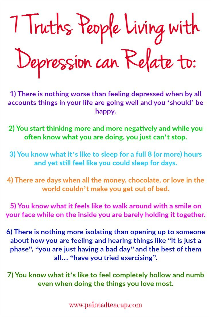 How to stop feeling depressed