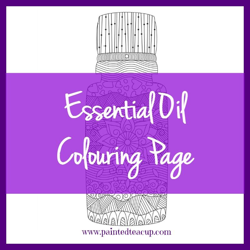 Get a free copy of this essential oil colouring page and colour the essential oil bottle any way you like! A great way to relax and unwind!
