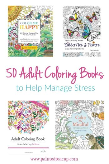 Here is a collection of 50 different adult coloring books to help you with stress management. These books range from extremely affordable up to 13 dollars!