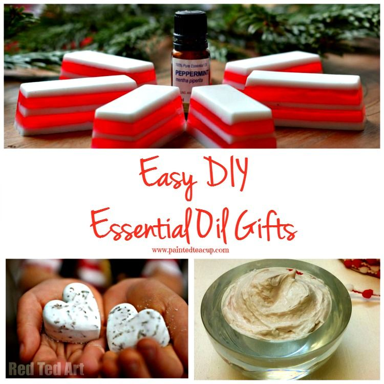 Easy and affordable DIY essential oil gifts for any occasion! Recipes for bar soap, sugar scrubs, body butter, foot cream, bath bombs, gifts for men & more!