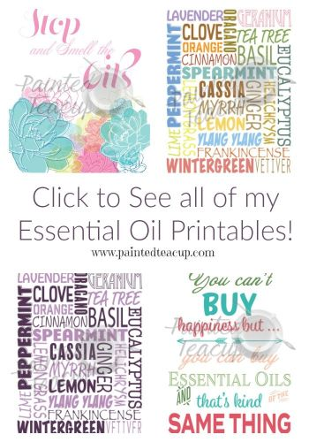 Click to see all of my beautiful and affordable essential oil printables. These printable posters are perfect for decorating your home or to give as a gift!