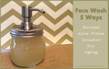Foaming face wash that you can make 5 ways to suit your skin type. Perfect essential oil skin moisturizer recipe!