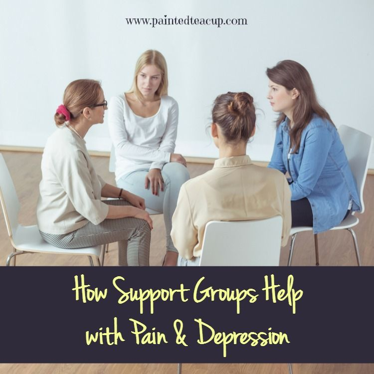 There is a definite connection between pain and depression! This post discusses those connections & how support groups help with pain & depression!
