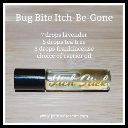 Bug Bite Itch Be Gone Roller Bottle Recipe plus other great recipes for essential oils for bug bites