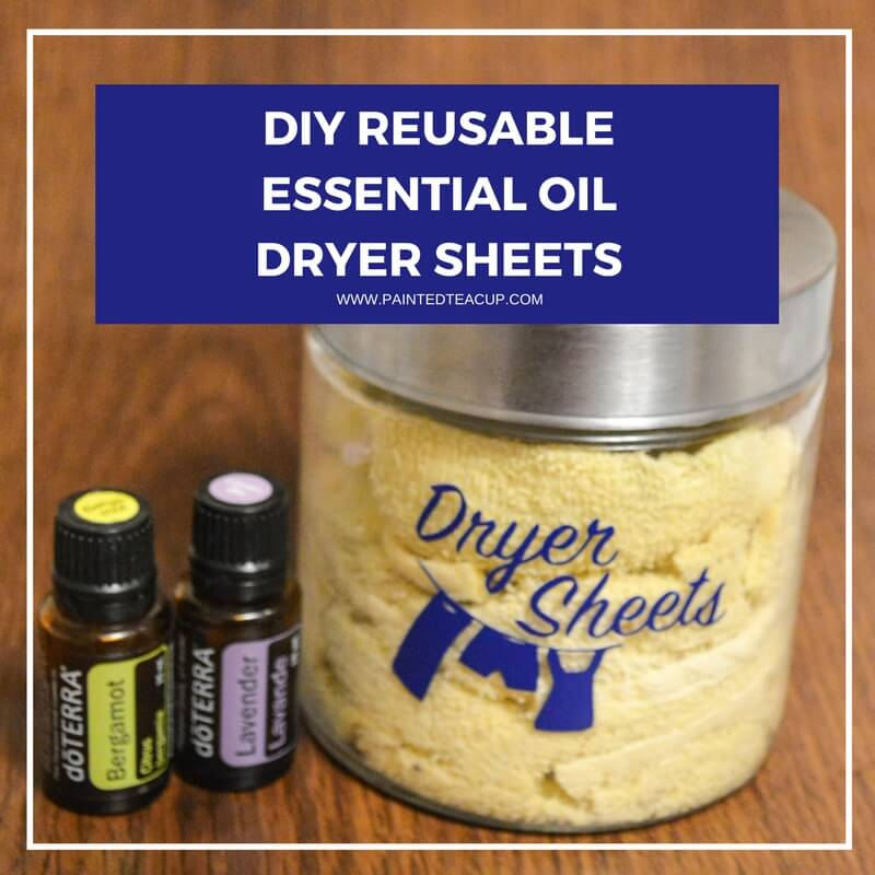 Easy, all natural & frugal DIY essential oil dryer sheets. These reusable dryer sheets use lavender and bergamot essential oils! #dryersheets #essentialoils #essentialoillaundry #reusabledryersheets #dryercloths #diy #naturalcleaning