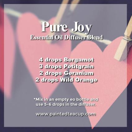 Pure Joy Diffuser Blend- Wonderful bergamot diffuser blends to inspire joy and hope. These recipes combine bergamot essential oil with other essential oils to help lift your mood! #diffuserblends #essentialoils #bergamot #bergamotessentialoil #diffuserrecipe