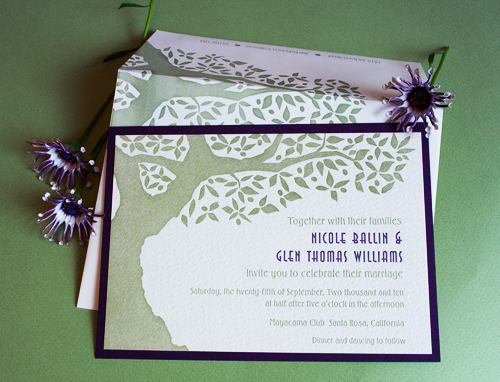 Olive Tree Contemporary Wedding Invitation