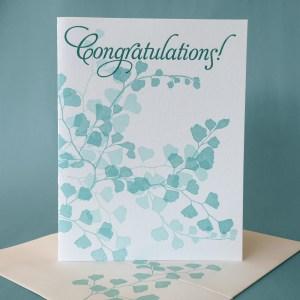 Maidenhair Fern Congratulations