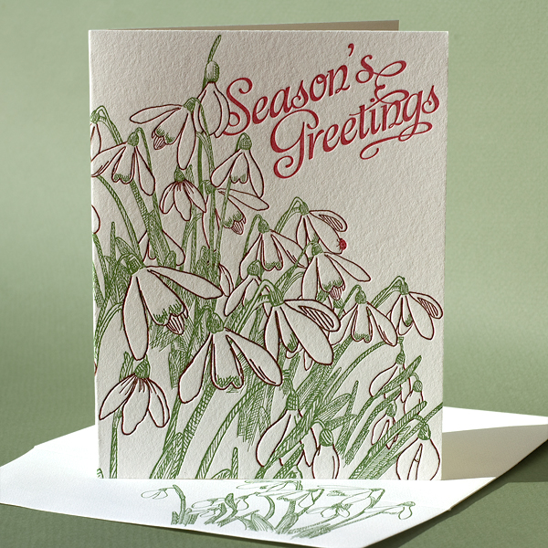 Snowdrop Season's Greetings Card