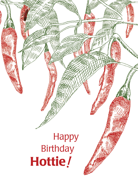 Chili Pepper Birthday Card Mockup