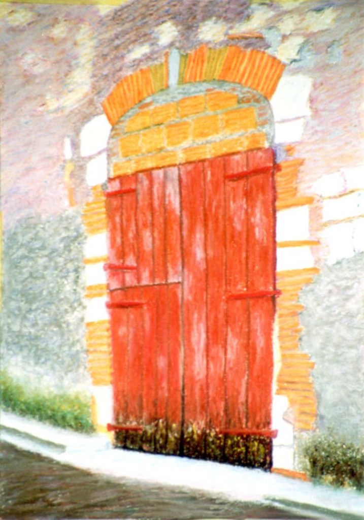 george hooper doorway pastel