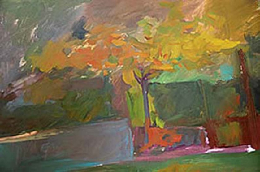 Keith Williams trees with wall