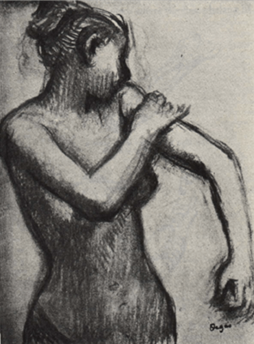 Drawing by Degas, friend of Alphonse Legros pupil of Horace Lecoq Boisbaudran