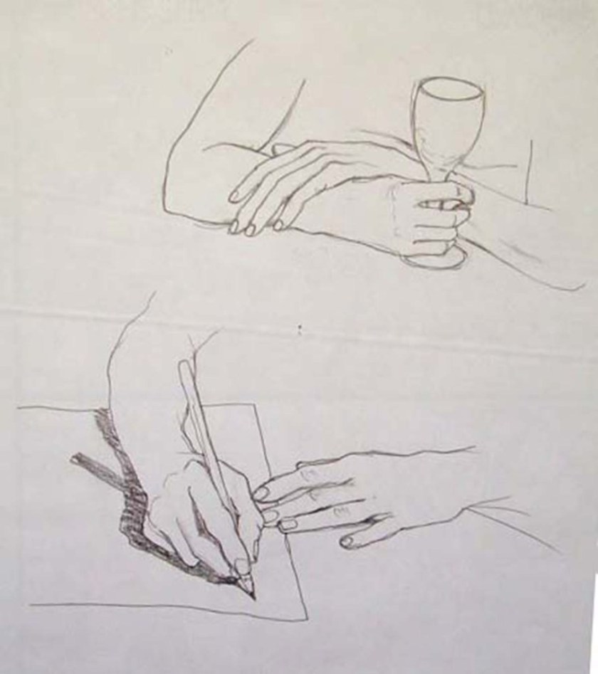 alan ansell hands drawing and grasping
