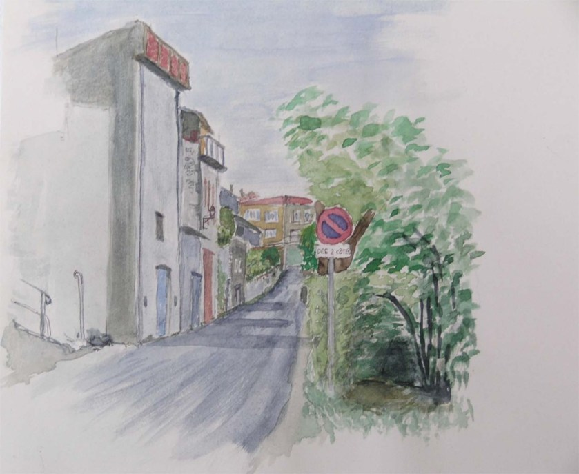 David sogge Montmiral West side watercolour