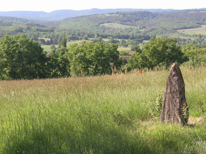 standing stone with Gresign beyond