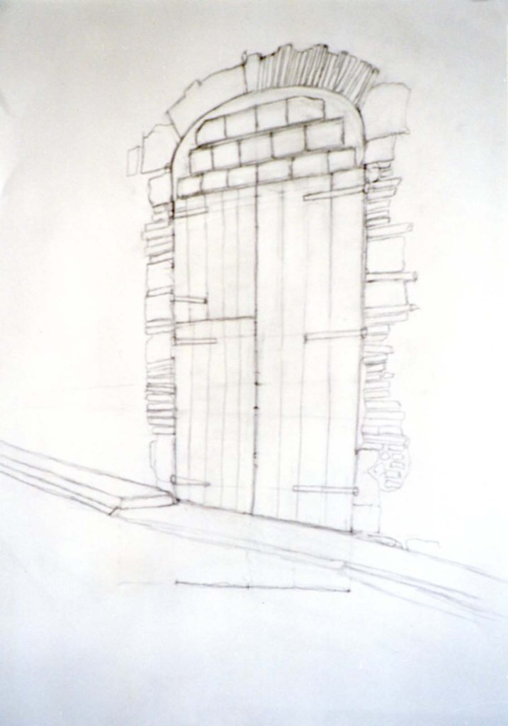 george hooper doorway drawing