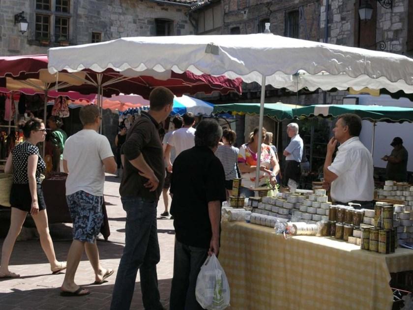 Christian Leonard's stand Tuesday market