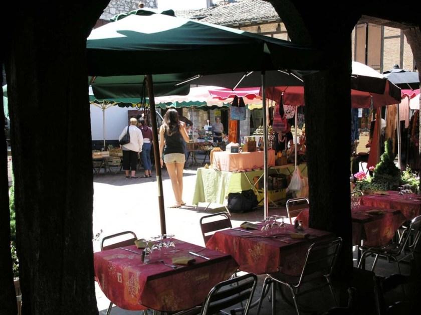 Tuesday market through arcades