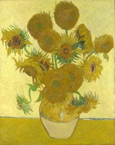 For paintings like Van Gogh's Sunflowers, the copyright period has expired and hence you will find posters and prints available for sale.