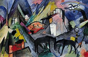 This painting by Franz Marc is one of my favourites and has lots of contrast.