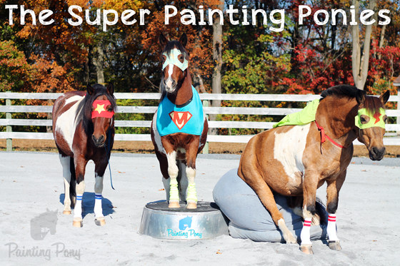 The Super Painting Ponies // Super Heroes