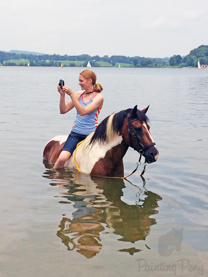 Swimming the Ponies at the Lake // Painting Pony