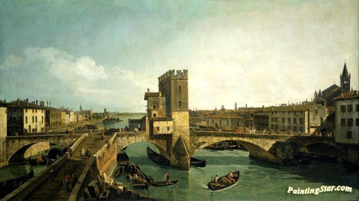 The Old Ponte Delle Navi In Verona Artwork By Bernardo