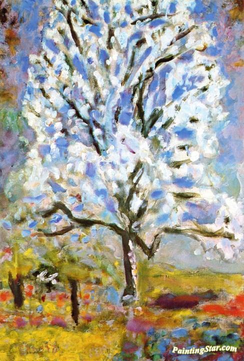 Flowering Almond Tree Artwork By Pierre Bonnard Oil