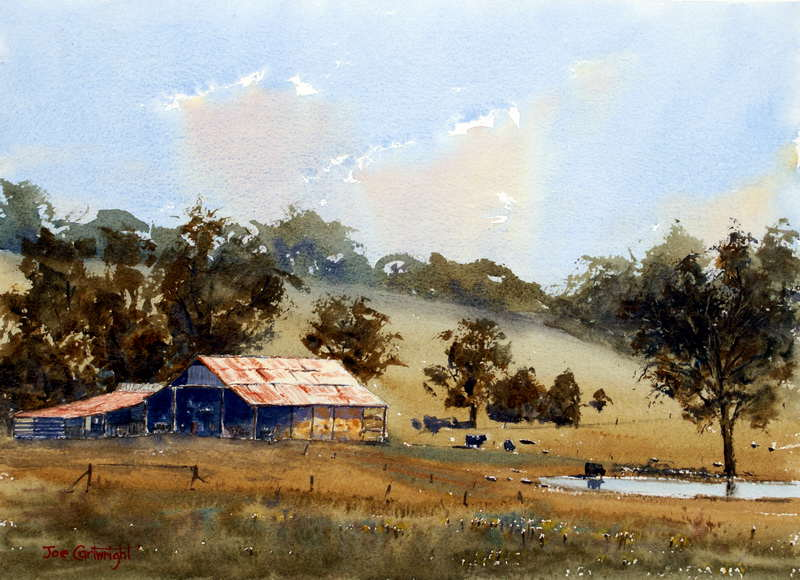 Watercolor paintings landscape gallery for Watercolor painting classes near me