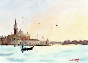 Venice San Giorgio Maggiore Plein Air watercolor painting